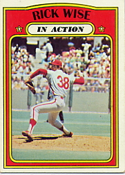 1972 Topps Baseball Cards      044      Rick Wise IA